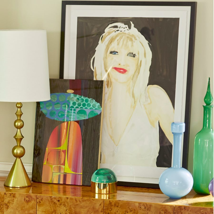 Jonathan Adler decor in shades of the sea