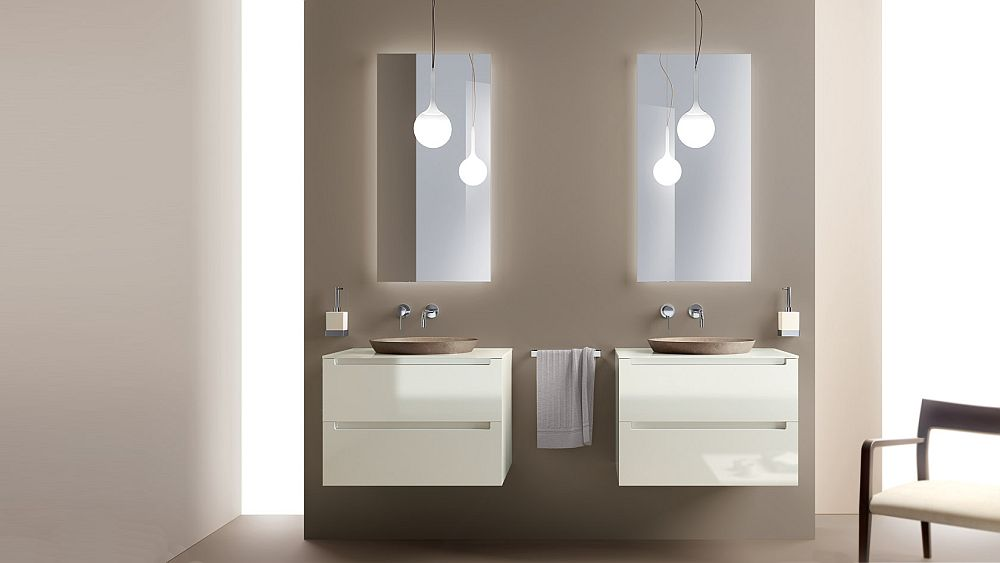 Keeping the bathroom vanity design simple and minimal