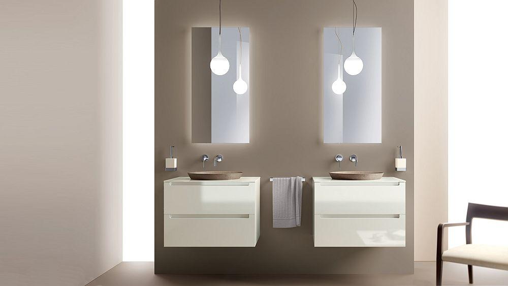 Keeping the bathroom vanity design simple and minimal