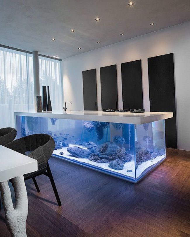 View in gallery Kitchen island aquarium