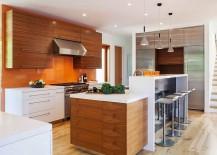 Kitchen island with breakfast counter for the elegant modern kitchen
