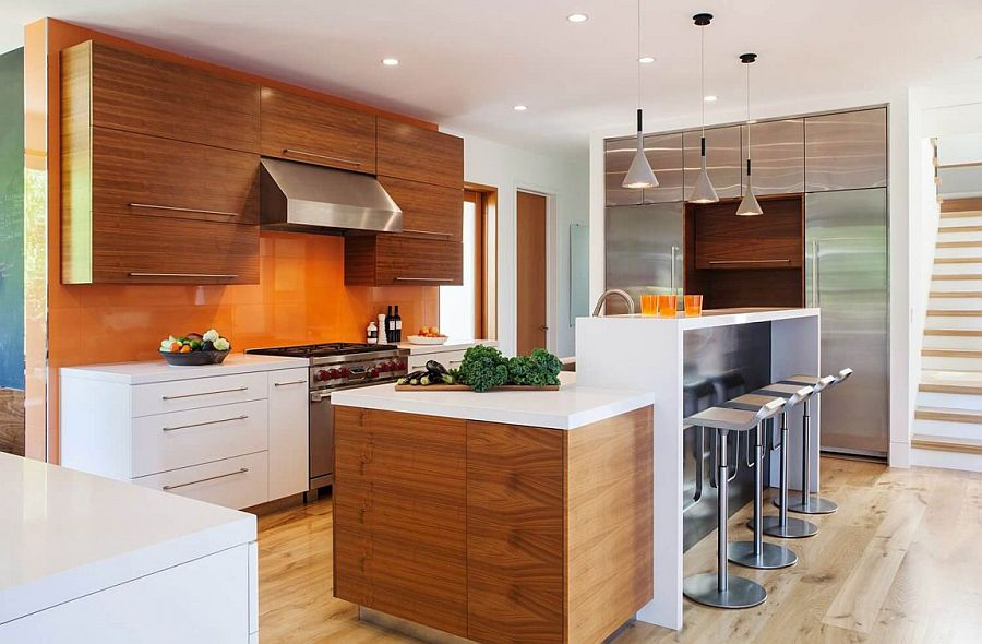 Kitchen island with breakfast counter for the elegant modern kitchen