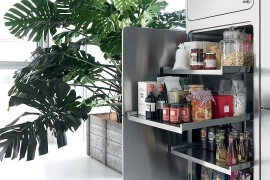Kitchen pantry design in stainless steel
