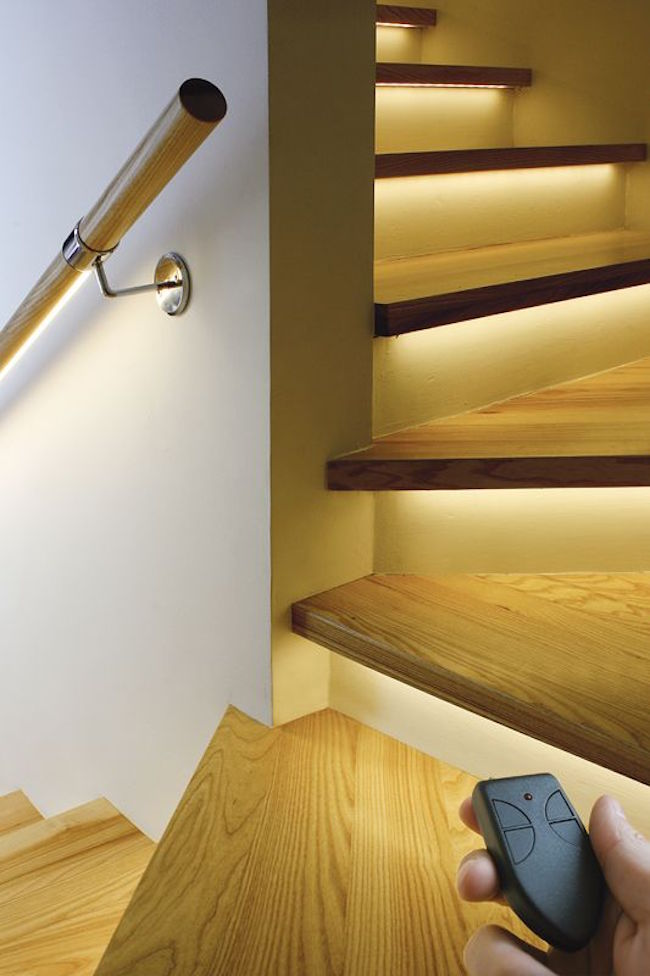 LED stairway lighting by KLUS