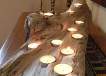 Large driftwood candle holder 217x155 8 Easy DIY Wood Candle Holders for Some Rustic Warmth This Fall