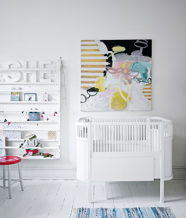 25 cute and comfy scandinavian nursery ideas Scandinavian baby nursery