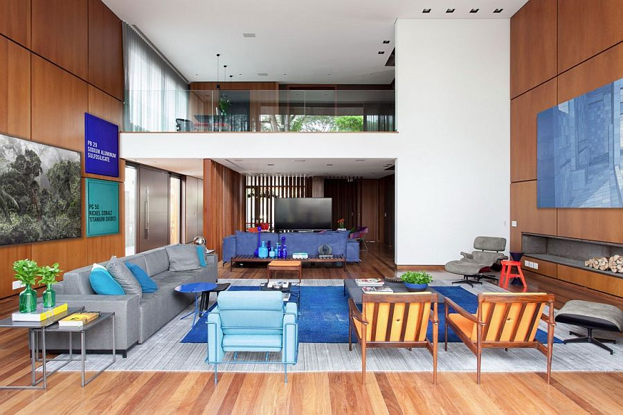 Lavish living space of the contemporary Brazilian home