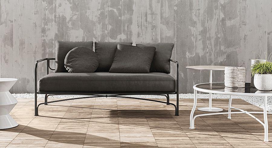 Le Parc sofa with European wrought iron frame
