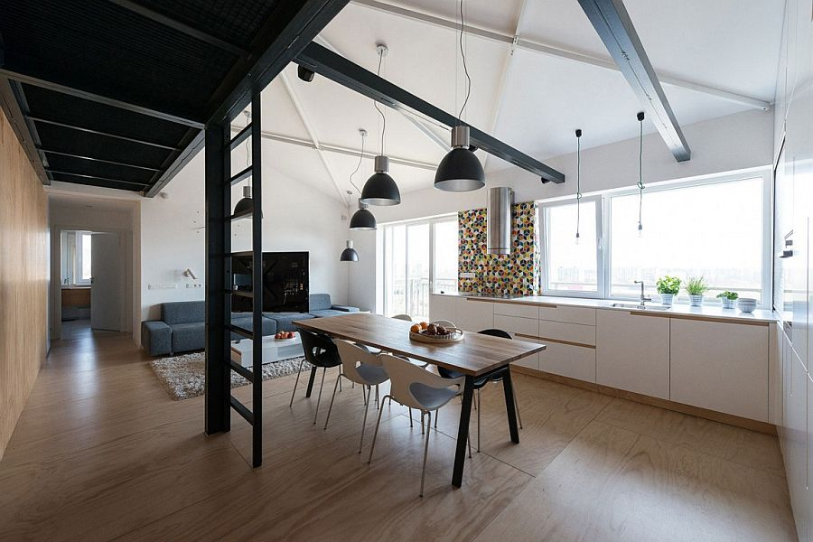 Modern Industrial Loft Apartment In Bratislava Showcases
