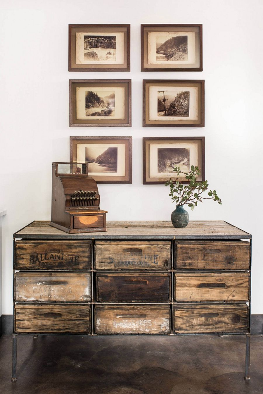 Ordinary Tahoe Rustic Furniture #1: View In Gallery Lovely 19th Century Albumen Photographs In The Corridor Add  To The Ambinace Of The Ski Retreat