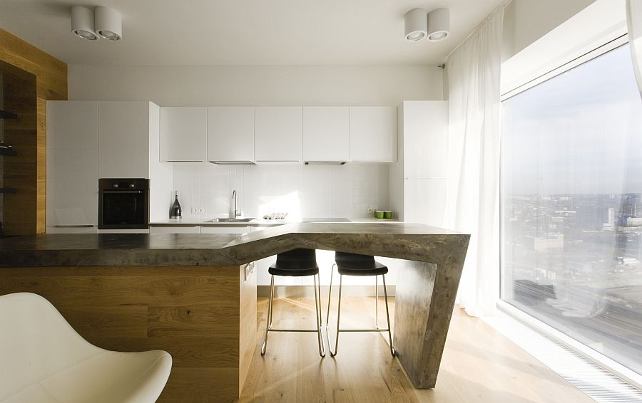 Lovely kitchen of Moscow apartment by Peter Zaytsev of za bor architects