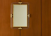 Lucite and brass mirror from Jonathan Adler
