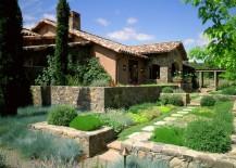 Manicured Napa garden