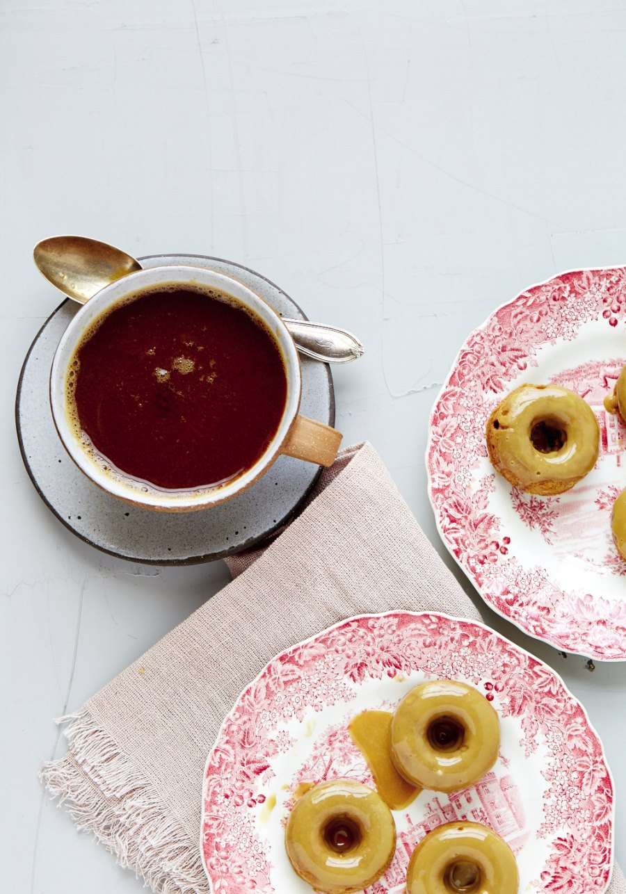 Maple molasses donuts from Camille Styles