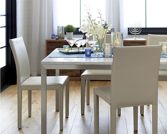 Sleek Stainless Steel Dining Tables - Square parsons dining table