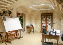 Mediterranean-home-office-with-stone-walls-217x155