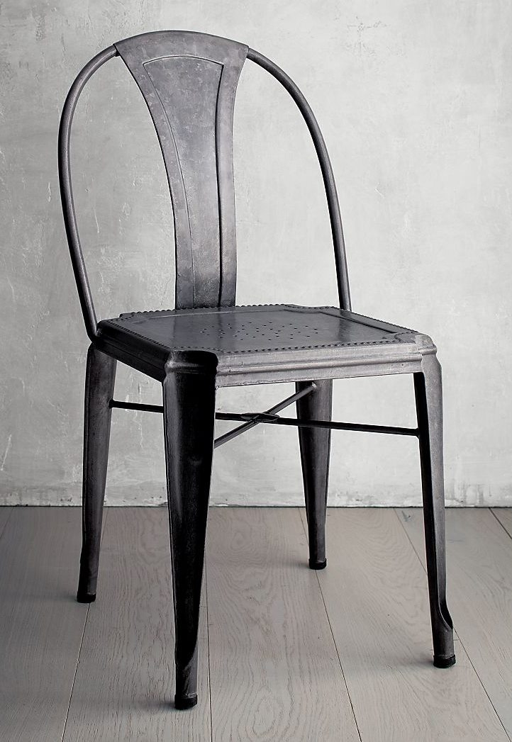 Metal dining chair from Crate & Barrel