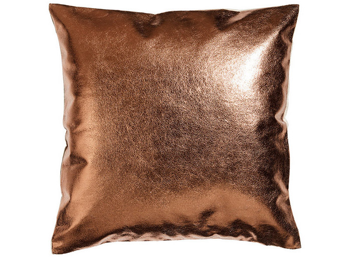 Metallic Copper Cushion Cover