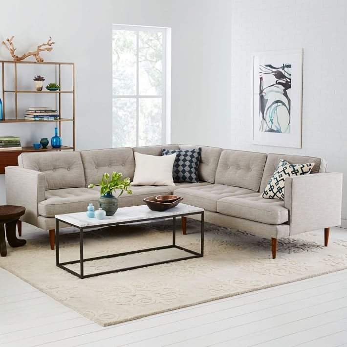 Midcentury-style sectional from West Elm