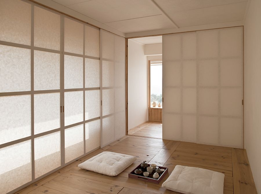 Minimal Tea room of the Four Box House
