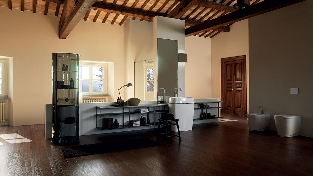 Minimal contemporary bathroom solutions from Scavolini