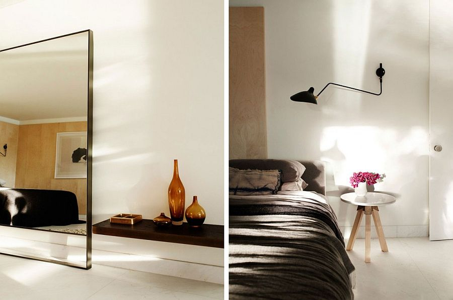 Minimal modern bedroom decor and sconce lighting ideas