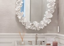 Mirror with the look and feel of coral