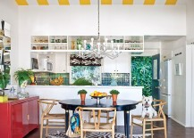 Mix some retro magic with modern aesthetics for a colorfully unique kitchen [Photo: Greystock for California Home + Design]