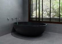Modern black bathtub from Apaiser