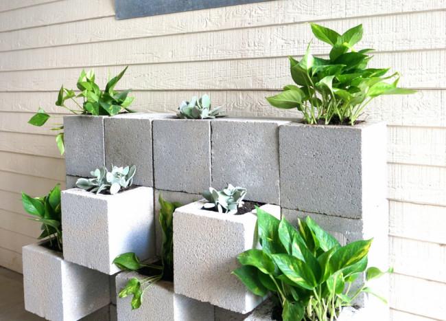 A DIY Cinder Block Succulent Wall with a Twist