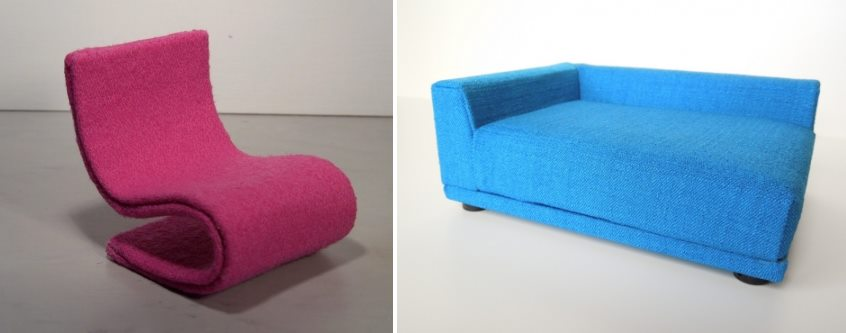 Modern miniature seating from PRD Miniatures