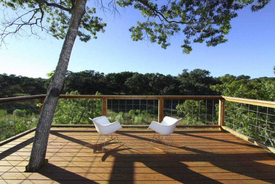 Modern rockers on an earthy deck