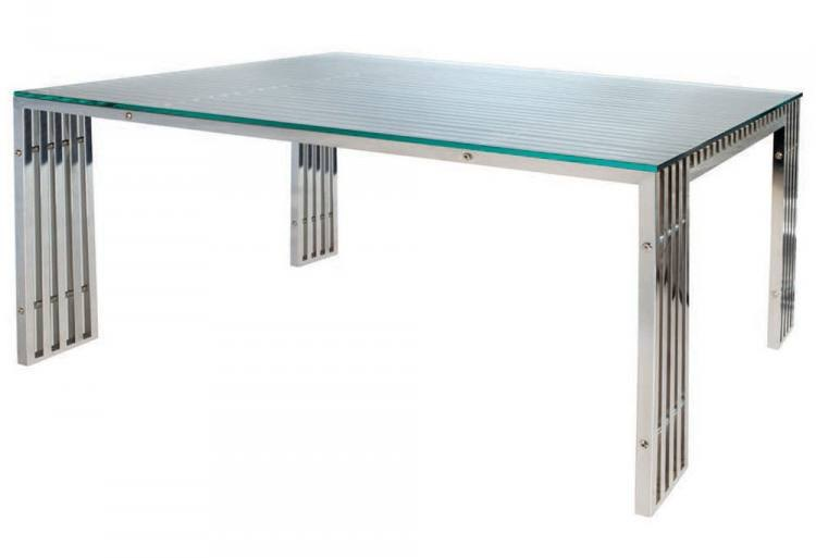 Beau View In Gallery Modern Stainless Steel Dining Table