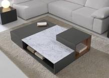Modular coffee table with magazine rack