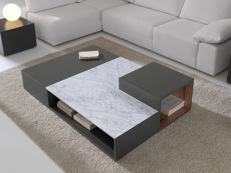 Modular coffee table with magazine rack