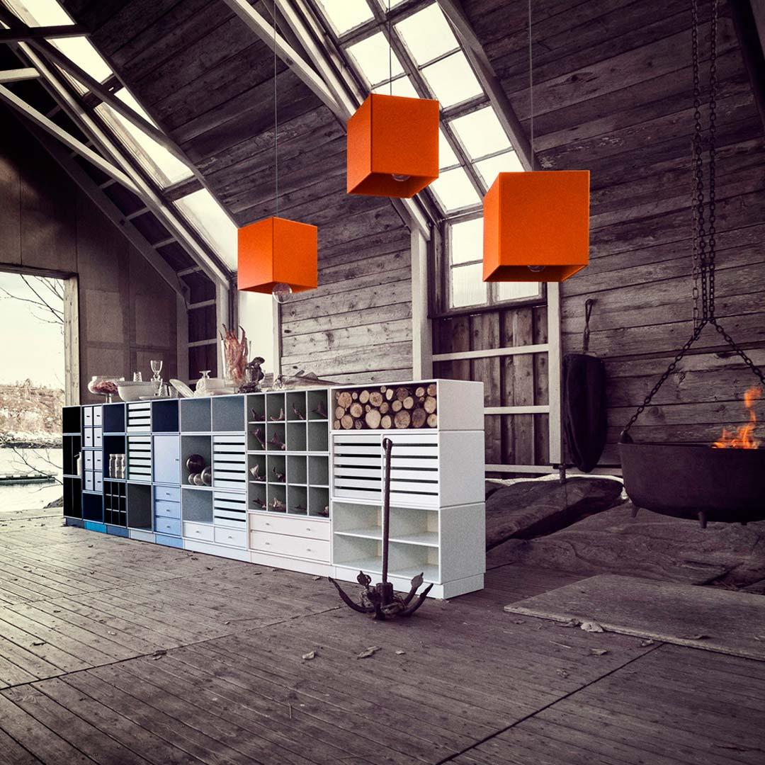 Montana Modular System in barn space