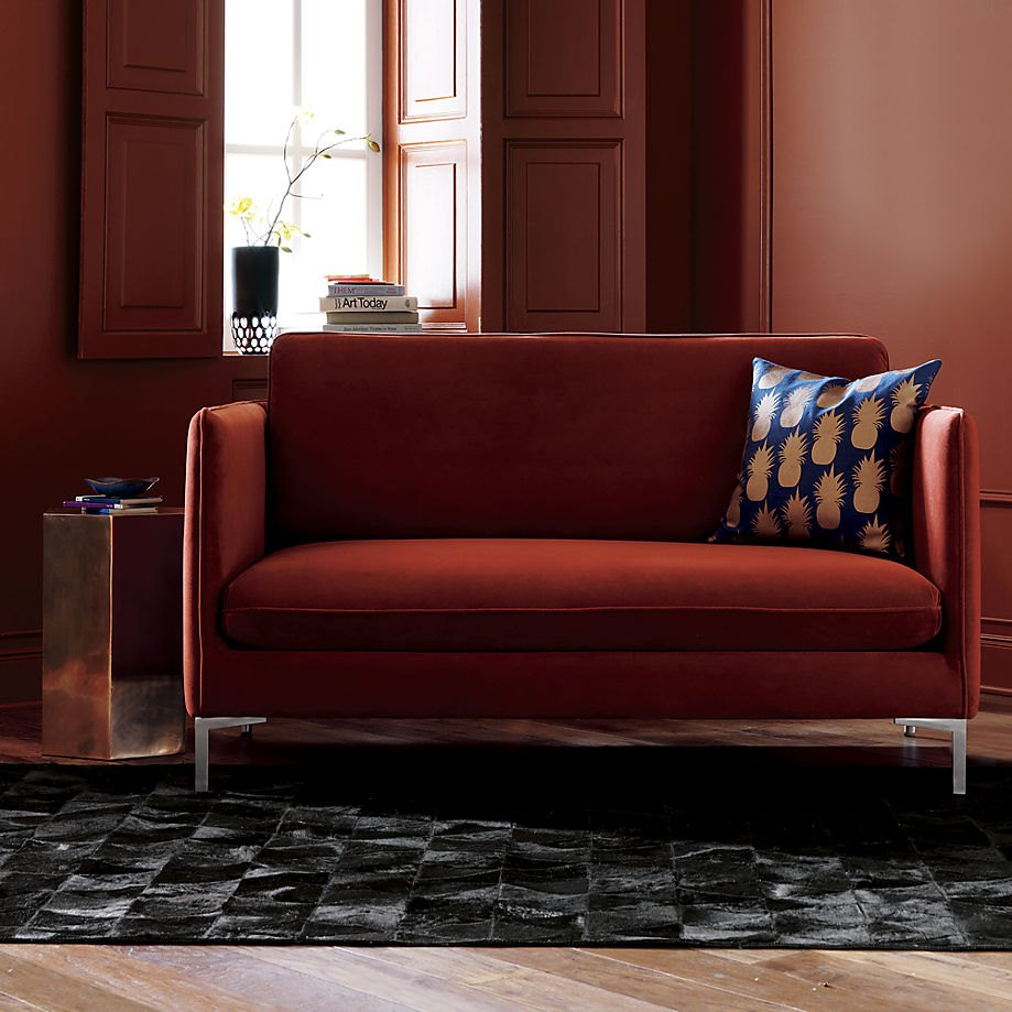 Navy and rust decor from CB2 Sleek Fall Colors for the New Season