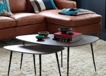 Nesting coffee tables from West Elm