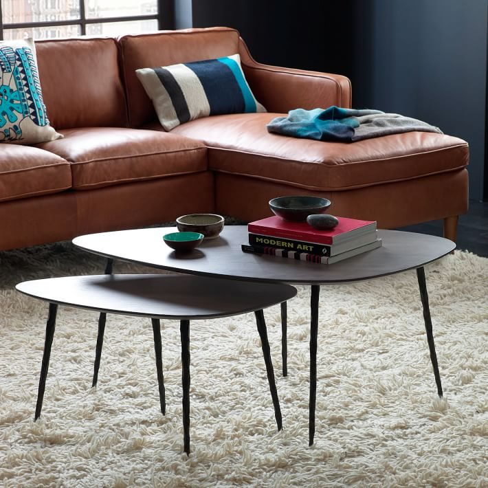 Nesting coffee tables from west elm decoist for Modern nesting coffee tables
