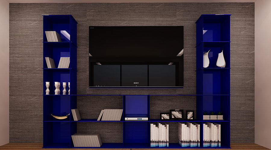 OTZ Living Room Multimedia Ultramarine Blue