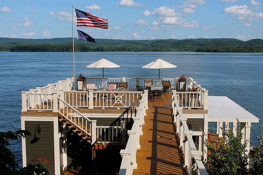 Open beach style deck of Alabama Lake House [From: Lauren Mikus]