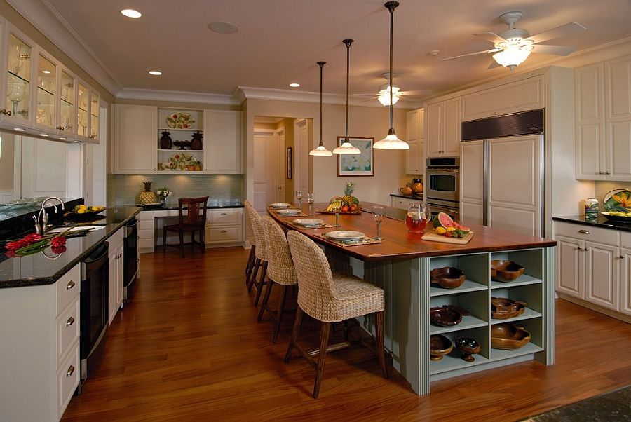 Back To Trendy Display 50 Kitchen Islands With Open Shelving