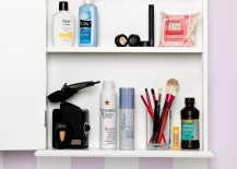 Organized medicine cabinet with products at the ready