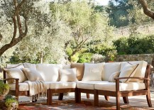 Outdoor sectional sofa from Pottery Barn