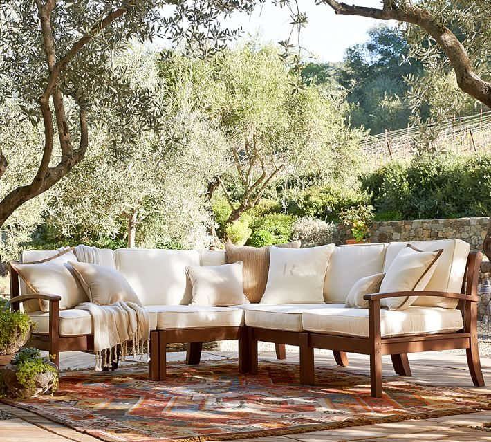 Lounge In Style With These Deck Furniture Ideas · Pottery Barn Chesapeake  Hampstead Outdoor Sofa Chair
