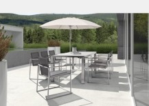 Outdoor stainless steel table 217x155 20 Sleek Stainless Steel Dining Tables