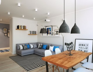 Going Scandinavian in Style: Space-Savvy Apartment in Moscow