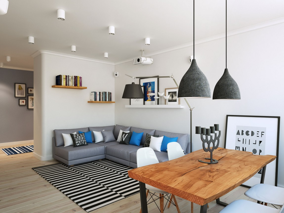 Going scandinavian in style space savvy apartment in moscow - Decoration interieur petit espace ...