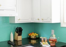Painted tile backsplash from A Beautiful Mess 217x155 Why Renovate When These Easy Home Updates Are Possible?
