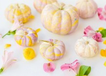 Pastel marbled pumpkins from Proper